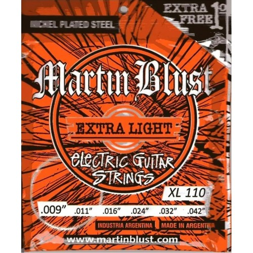 Cuerdas Martin Blust XL110 .09