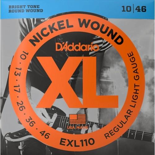 Cuerdas D'Addario EXL 110 Regular Light