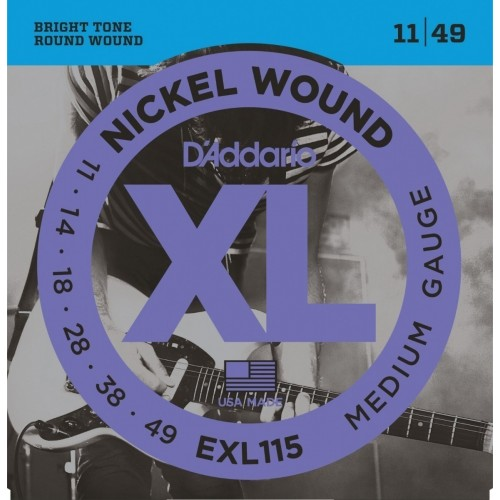 Cuerdas D'Addario EXL 115 Medium Gauge