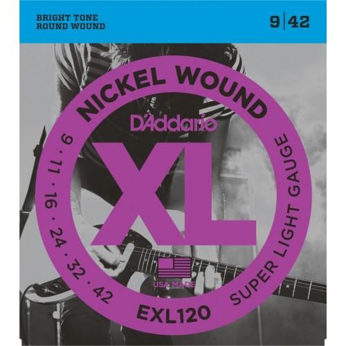 Cuerdas D'Addario EXL 120 Super Light Gauge