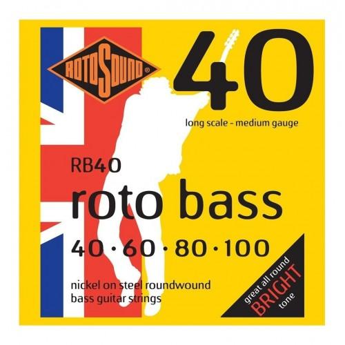 Cuerdas Rotosound RB40 Nickel Steel Bright Tone