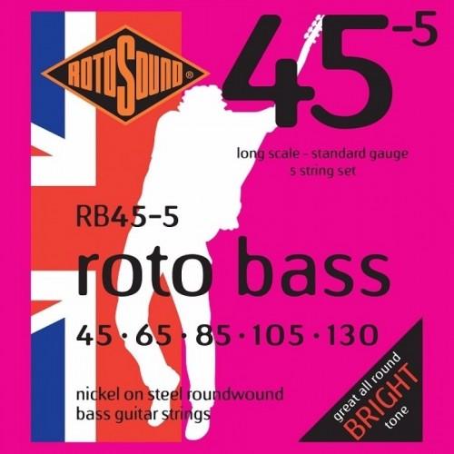 Cuerdas Rotosound RB45-5 Nickel Steel Bright Tone