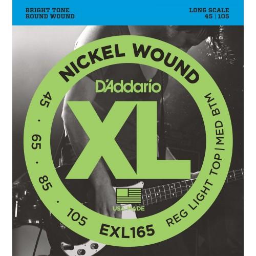 Cuerdas D'Addario EXL 165 Reg Light Top