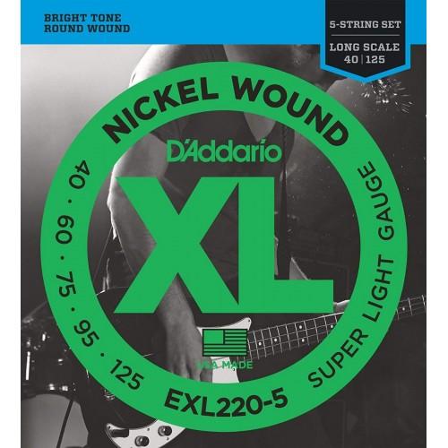 Cuerdas D'Addario EXL 220-5 Súper Light Gauge