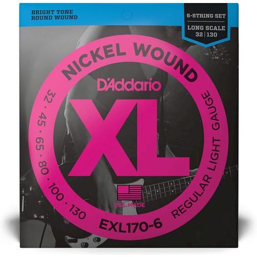 Cuerdas D'Addario EXL 170-6 Regular Light Gauge