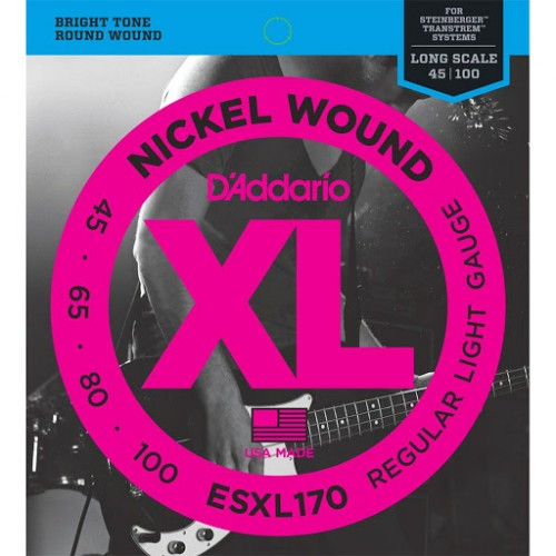 Cuerdas D'Addario ESXL 170 Regular Light Gauge