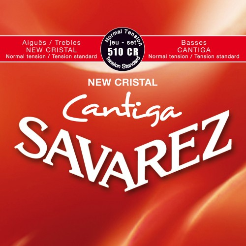 Cuerdas Savarez 510CR New Cristal Cantiga Normal Tension