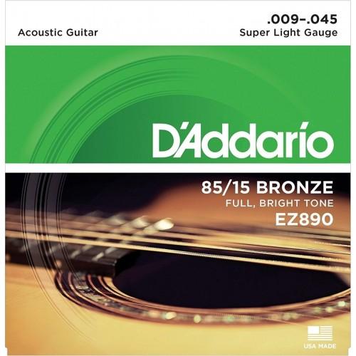 Cuerdas D'Addario EZ910 Super Light Gauge