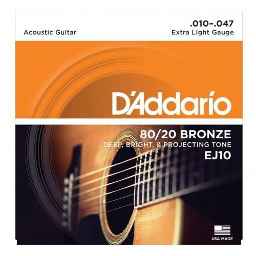 Cuerdas D'Addario EJ10 Extra Light Gauge