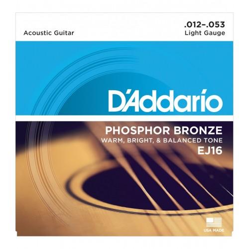 Cuerdas D'Addario EJ16 Light Gauge