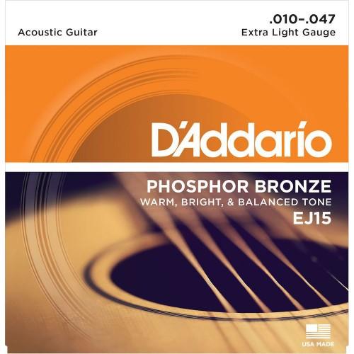 Cuerdas D'Addario EJ15 Extra Light Gauge