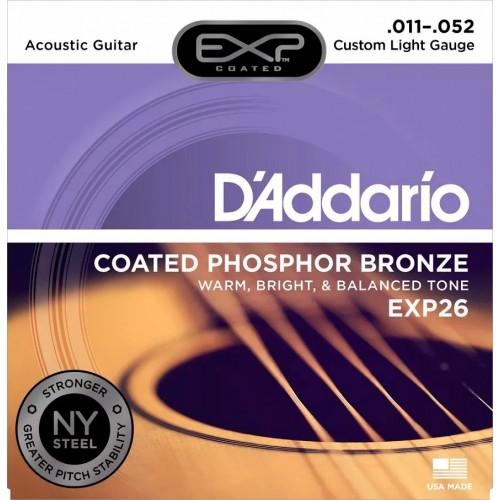 Cuerdas D'Addario EXP26 Custom Light Gauge